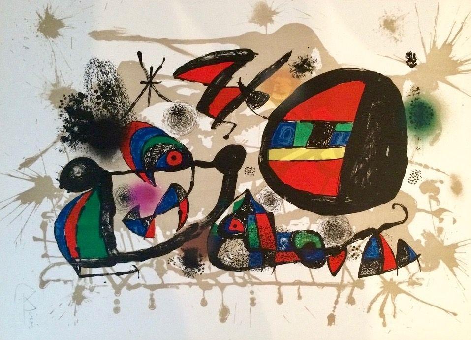 Lithograph Miró - Nid D'alouettes
