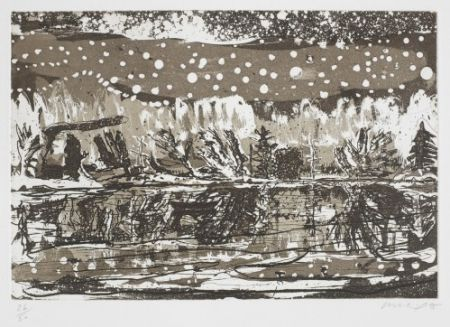Etching And Aquatint Doig - Night Fishing