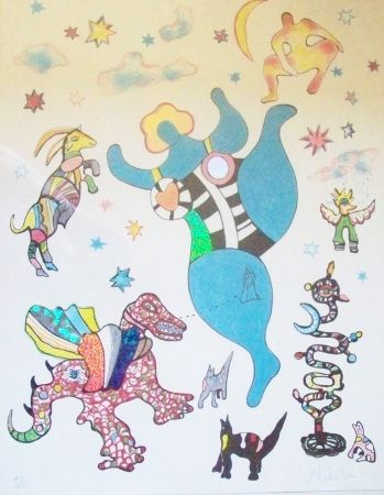 Lithograph De Saint Phalle - Nikita
