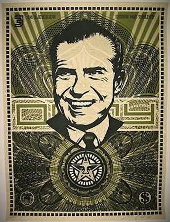 Screenprint Fairey - Nixon Money