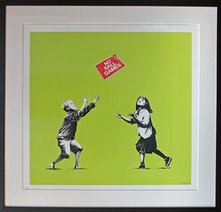 Screenprint Banksy - No Ball Games (Green)