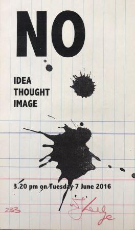 Screenprint Kentridge - No Idea Thought Image