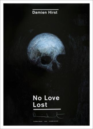 Lithograph Hirst -  No LOve Lost  :: Floating Skull – Signed Poster