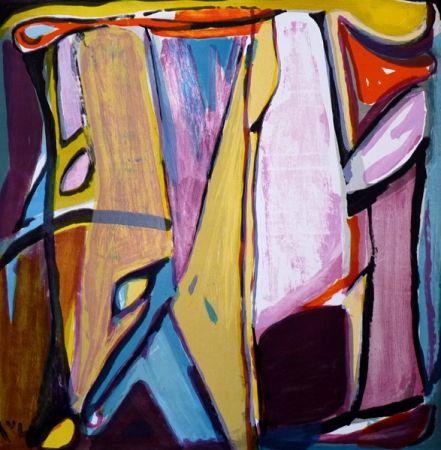 Lithograph Van Velde - No title (MP 350)