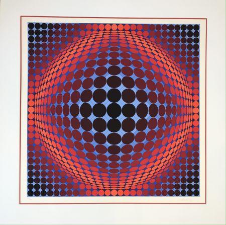 Lithograph Vasarely - Nobel 7