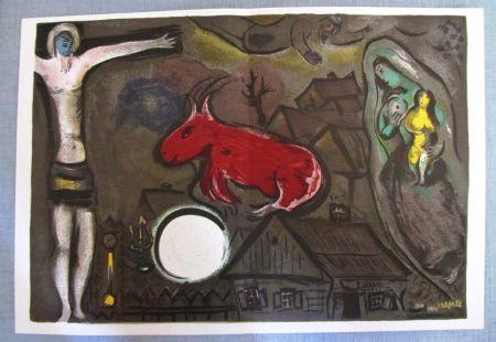 Lithograph Chagall - Nochebuena