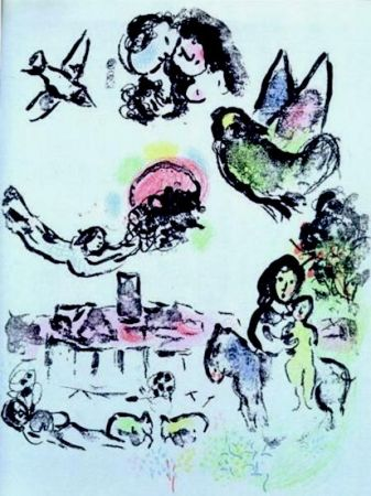 Lithograph Chagall - Nocturne a Venice (M.400)
