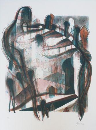 Lithograph Macotela - Nocturno y sombras