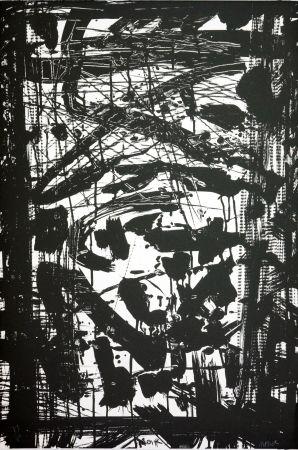 Lithograph Huftier - Noir
