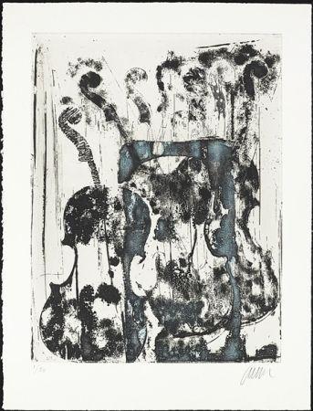Etching Arman - Noir et Bleu