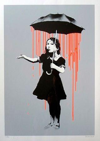 Screenprint Banksy - Nola (Orange Rain)