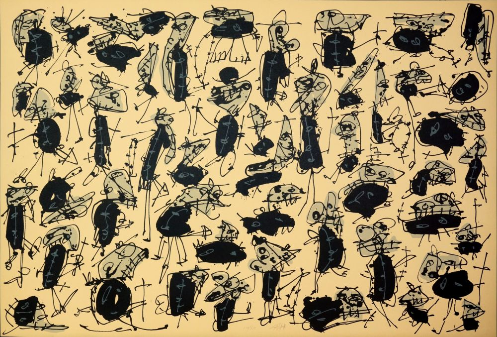 Lithograph Saura - Nombre de curés, Planches 1