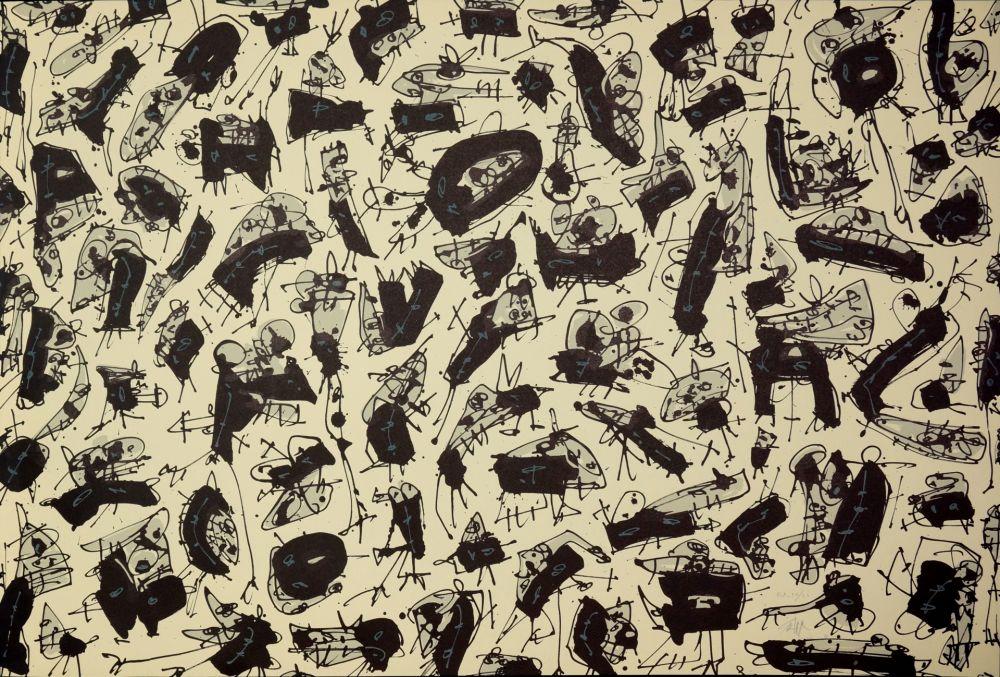 Lithograph Saura - Nombre de curés, Planches 2