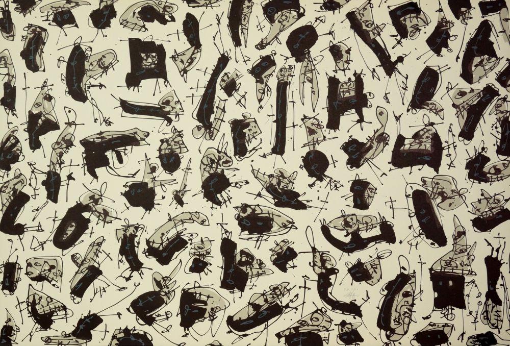Lithograph Saura - Nombre de curés, Planches 3