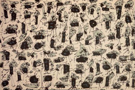 Lithograph Saura - Nombre de curés, Planches 5