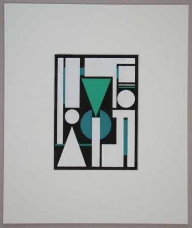 Screenprint Herbin - Non, 1951