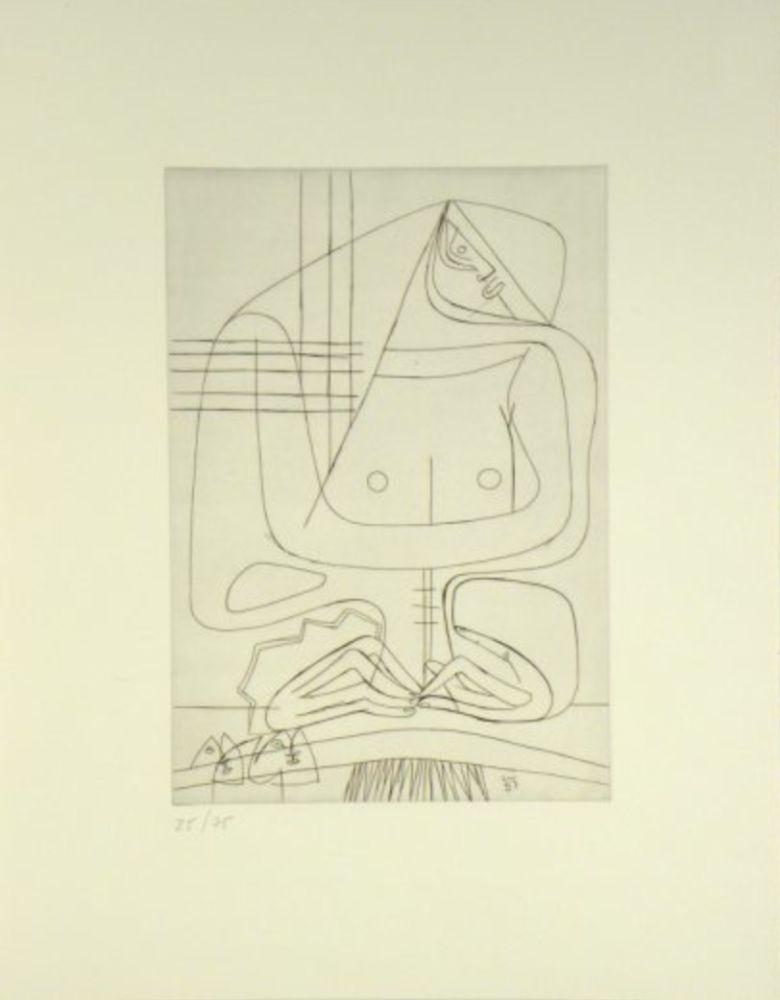 Etching Le Corbusier -