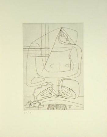 Etching Le Corbusier -