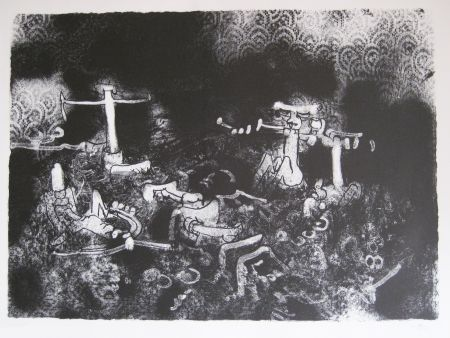 Lithograph Matta - Non vedi tu la morte che l combatte