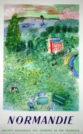 Lithograph Dufy - Normandie