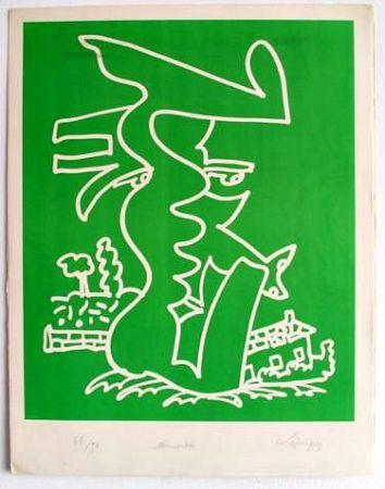 Lithograph Lapicque - Normandie