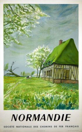 Lithograph Foujita - Normandie Bretagne