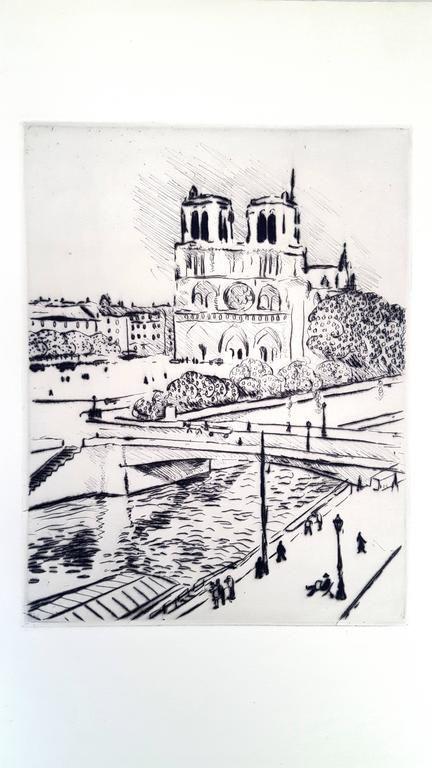 Lithograph Marquet - Notre Dame