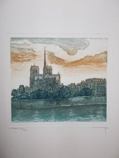 Etching Ayuso - Notre Dame