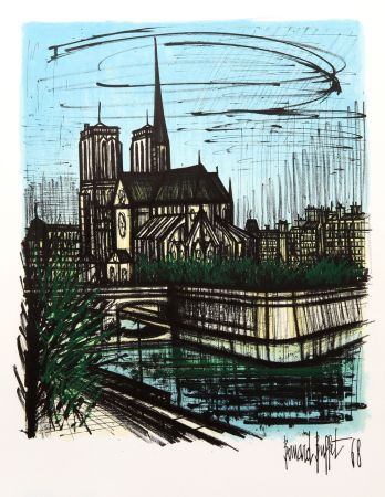 Lithograph Buffet - Notre Dame