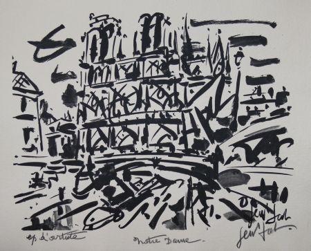 Lithograph Paul  - NOTRE DAME DE PARIS / NOTRE DAME OF PARIS - Lithographie Originale / Original Lithography