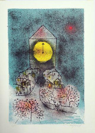 Lithograph Rognoni - Notturno
