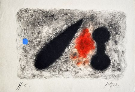 Etching Miró - Nous Avons II