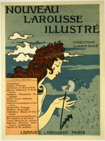 Lithograph Grasset - Nouveau Larousse Illustré