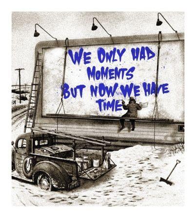Screenprint Mr Brainwash - Now Is The Time