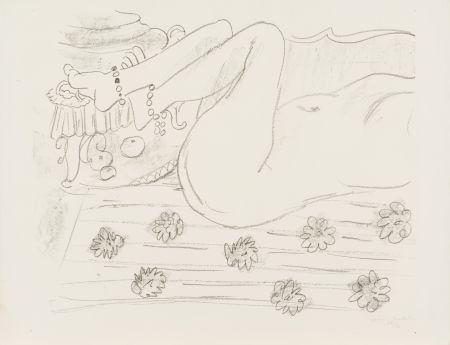 Lithograph Matisse - Nu. Étude d'un mouvement de jambes
