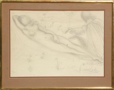Lithograph Dali - Nu a la Guitarre (Serenade) from the Nudes Suite