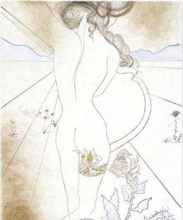 Screenprint Dali - Nu a la Jarretiere (Nude with Garter)