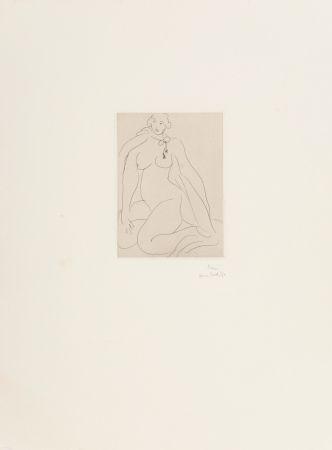 Etching Matisse - Nu Accroupi, Une Cordeliere Nouee Autour du Cou