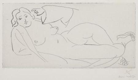 Etching Matisse - Nu allongé, aux babouches de paille tressée