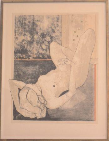 Lithograph Jansem - Nu allonge