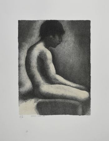 Lithograph Seurat - NU ASSIS / SEATED NUDE, 1883