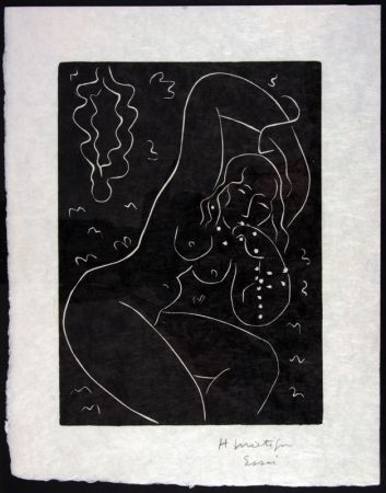 Linocut Matisse - Nu Au Bracelet