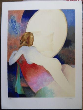 Lithograph Gaveau - Nu au miroir