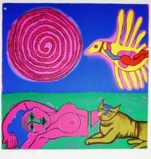 Lithograph Corneille - Nu au Soleil