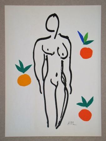 Lithograph Matisse (After) - Nu Aux Oranges - 1953