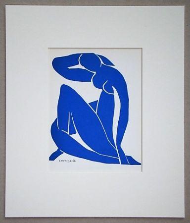 Lithograph Matisse - Nu beu - 1952