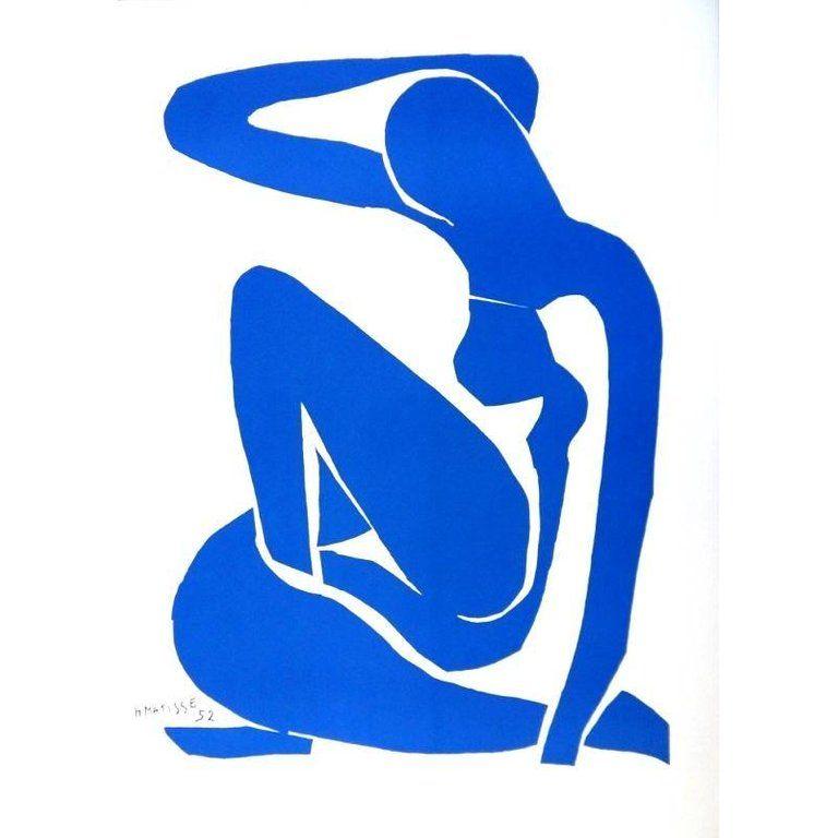 Lithograph Matisse - Nu Bleu