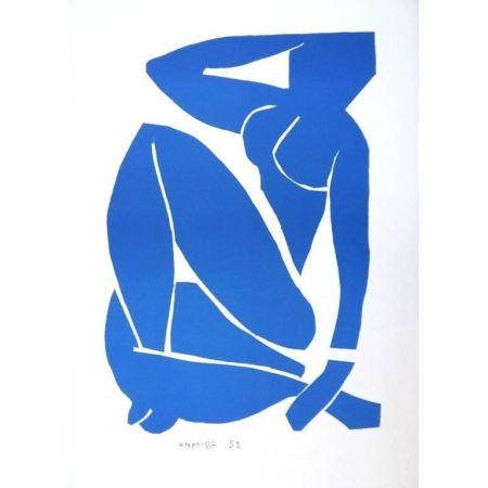 Lithograph Matisse - Nu Bleu assise