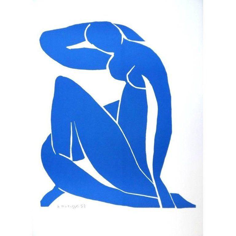 Lithograph Matisse - Nu Bleu endormi