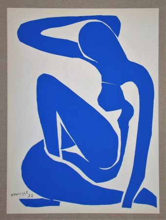 Lithograph Matisse (After) - Nu bleu I.-1952